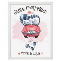 Wandbild: Just married (personalisierbar)
