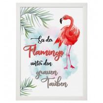 Wandbild: Sei der Flamingo