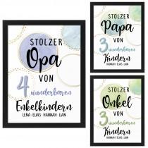 Wandbild: Stolzer Opa / Papa / Onkel (personalisierbar)