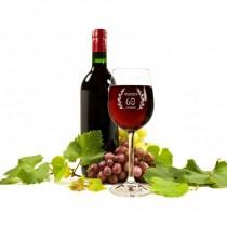 Graviertes Weinglas mit Name und Geburtsjahr