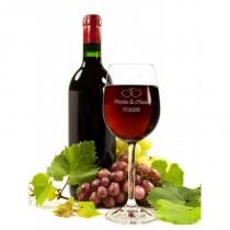 Graviertes Weinglas zur Hochzeit
