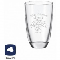 "Leonardo GIN-Glas ""When life hands you - Lemons make a GIN and tonic"""
