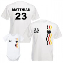 WM-Shirt weiß - als Tanktop, Babybody, Kinder, Damen oder Herrenshirt - Adler + Wunschzahl