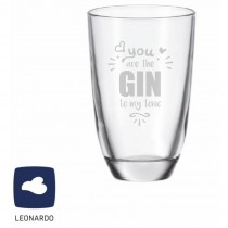 "Leonardo GIN-Glas ""You are the GIN to my tonic"""