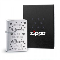 Original Zippo Benzinfeuerzeug: 18 Stunden
