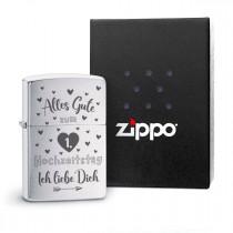 Original Zippo Benzinfeuerzeug: Alles Gute zum Hochzeitstag