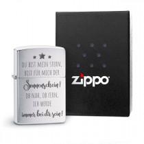 Original Zippo Benzinfeuerzeug: Du bist mein Stern