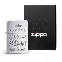 Original Zippo Benzinfeuerzeug: Fahr vorsichtig!
