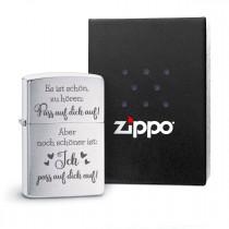 Original Zippo Benzinfeuerzeug: Pass auf dich auf!