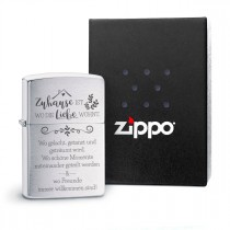 Original Zippo Benzinfeuerzeug: Zuhause ist...