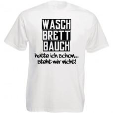 Funshirt weiß oder schwarz - Waschbrettbauch