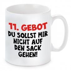 Tasse mit Motiv - 11. GEBOT DU SOLLST MIR NICHT AUF DEN SACK GEHEN!