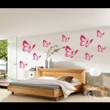 Wandtattoo Set Schmetterlinge 10teilig