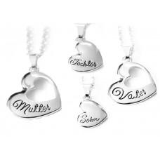 Mutter/Vater und Tochter/Sohn Halskette