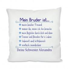 Kissen mit Motiv Modell: Mein Bruder ist...