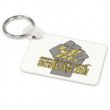 Alu-Schlüsselanhänger weiß - Modell: La le lu...