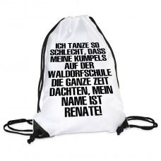 Turnbeutel Modell: Ich tanze so schlecht