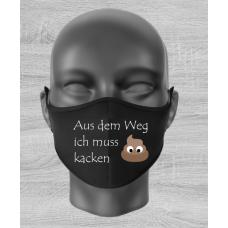 """Mund Nase Maske """"Aus dem Weg"""""""