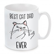 Tasse Modell: Best Cat Dad Ever.