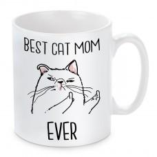 Tasse Modell: Best Cat Mom Ever.