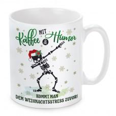 Tasse mit Motiv - Mit Kaffee und Humor......