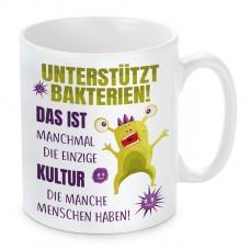 Tasse: Unterstützt BAKTERIEN!