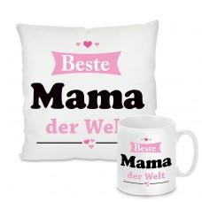 Kissen oder Tasse: Beste Mama der Welt