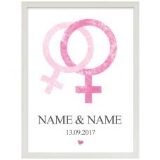 Wandbild: Love (Frau + Frau)  (personalisierbar)