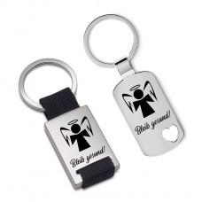 Metall Schlüsselanhänger Modell: Bleib gesund