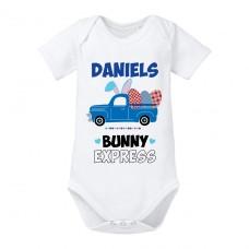 Babybody: BunnyExpress (Jungs, personalisierbar)