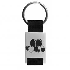 Metall Schlüsselanhänger - Buchstabe - individualisierbar