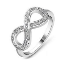 925 Silber Ring, Unendlichkeit, Damenring, Verlobungsring