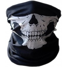 Premium Multifunktionstuch | Sturmmaske | Bandana | Schlauchtuch | Halstuch mit Totenkopf- Skelettmasken für Motorrad Fahrrad Ski Paintball Gamer Karneval Kostüm Skull Maske