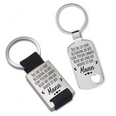 Metall Schlüsselanhänger Modell: Die Ehe ist eine Beziehung...