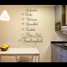 Wandtattoo Formel für das Familienglück