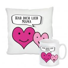 Kissen oder Tasse: Hab dich lieb Mama