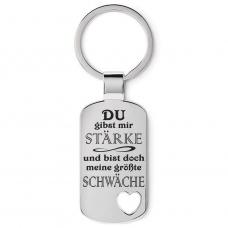 Metall Schlüsselanhänger Modell: Du gibst mir Stärke