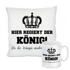 Kissen oder Tasse: Hier regiert der König ! Bis die Königin wieder da ist
