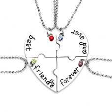 4 Halsketten mit best friends forever and ever Aufschrift