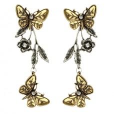 Damenohrringe / Ohringe Rose Schmetterlinge