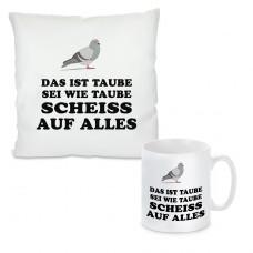 Kissen oder Tasse mit Motiv Modell: Taube