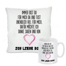 Kissen oder Tasse: Ich liebe dich