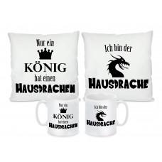 Kissen oder Tassen Set: Hausdrache