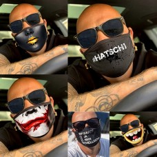 Maske Masken mit verschiedenen Motiven Schwarz