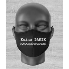 """Mund Nase Maske """"KEINE PANIK - RAUCHERHUSTEN"""" mit Gummizug"""