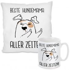 Kissen oder Tasse mit Motiv Modell: Beste Hundemama Aller Zeiten!