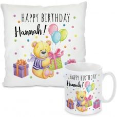 Kissen oder Tasse: Happy Birthday (personalisierbar)