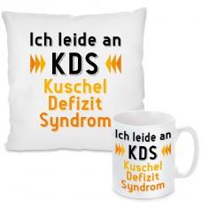 Kissen oder Tasse mit Motiv Modell: Ich leide an KDS ...