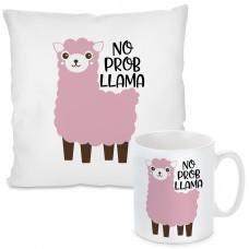 Kissen oder Tasse: No Prob Llama