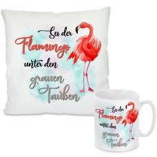 Kissen oder Tasse: Sei der Flamingo
